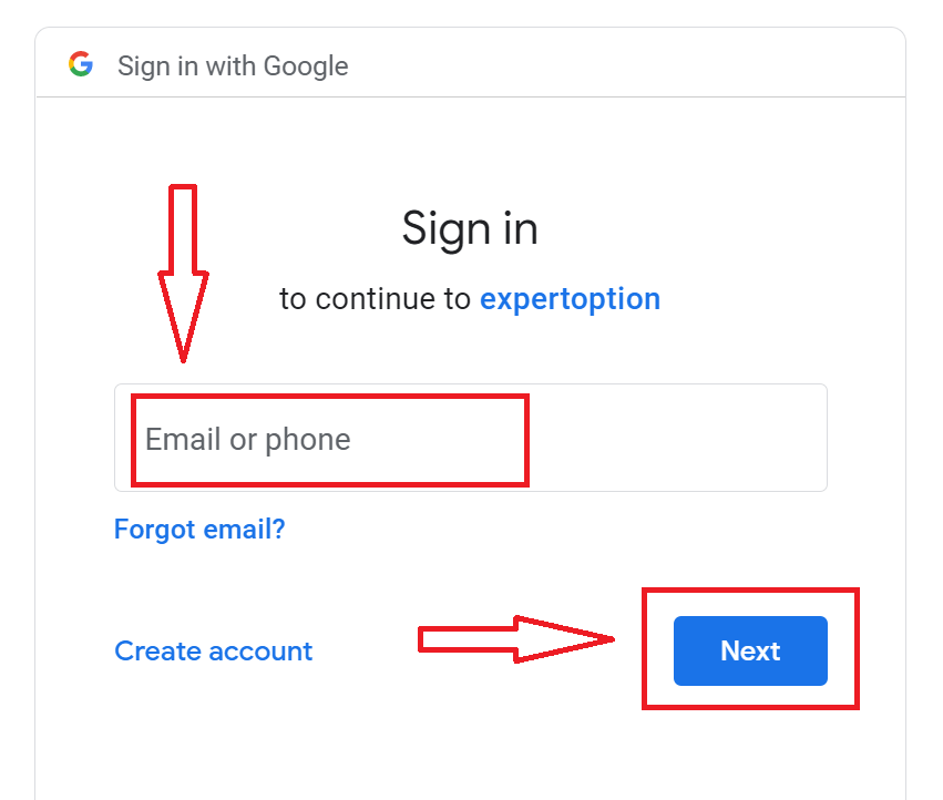 Как войти в систему и подтвердить учетную запись в ExpertOption