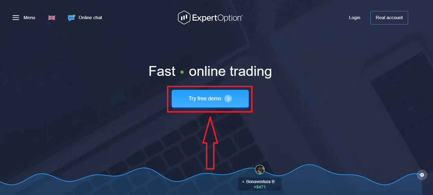 Как зарегистрировать аккаунт в ExpertOption
