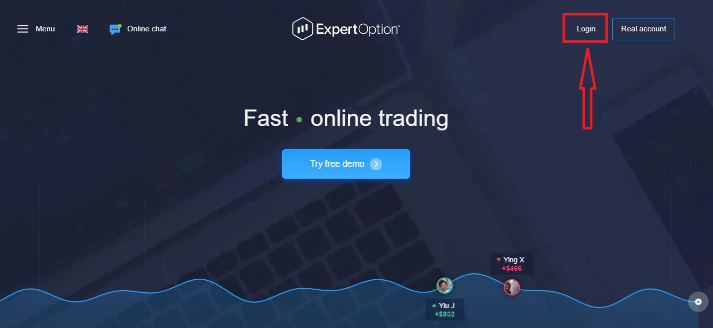 Как войти в систему и вывести деньги из ExpertOption